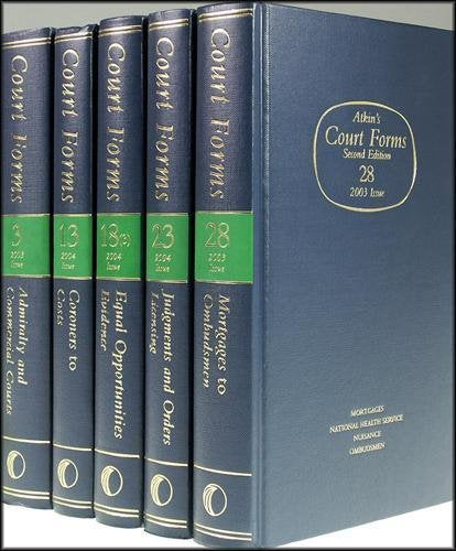 Atkin's Court Forms: Counterclaims and Other Additional Claims Pt. 20 Hardcover – 1 Jan 1991