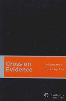 Cross On Evidence 9th Edition