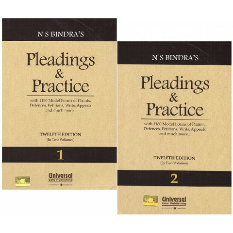 Universal's Pleadings & Practice by N. S. Bindra [2 HB Vols.]