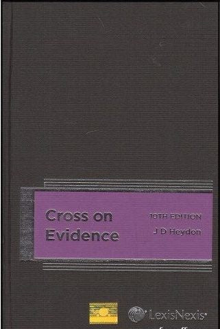CROSS ON EVIDENCE 10th Edition