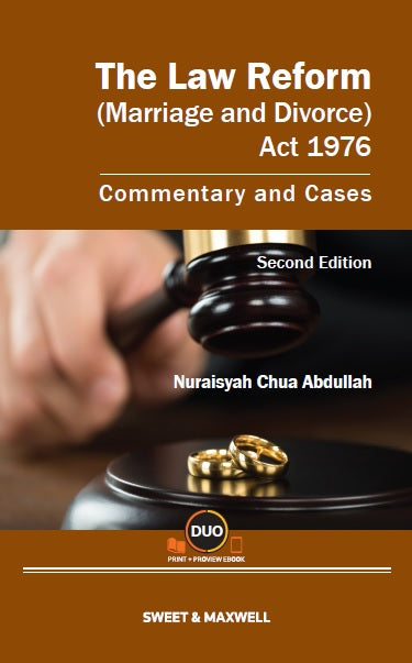 The Law Reform (Mariage And Divorce) Act 1976, 2nd Ed