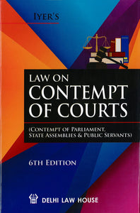 Law on Contempt of Courts 6th Edition 2019
