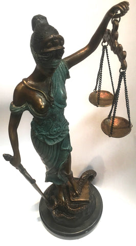 Lady of Justice (bronze) small