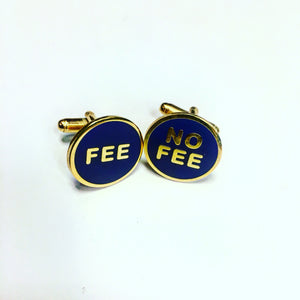 Fees No Fee Cufflinks
