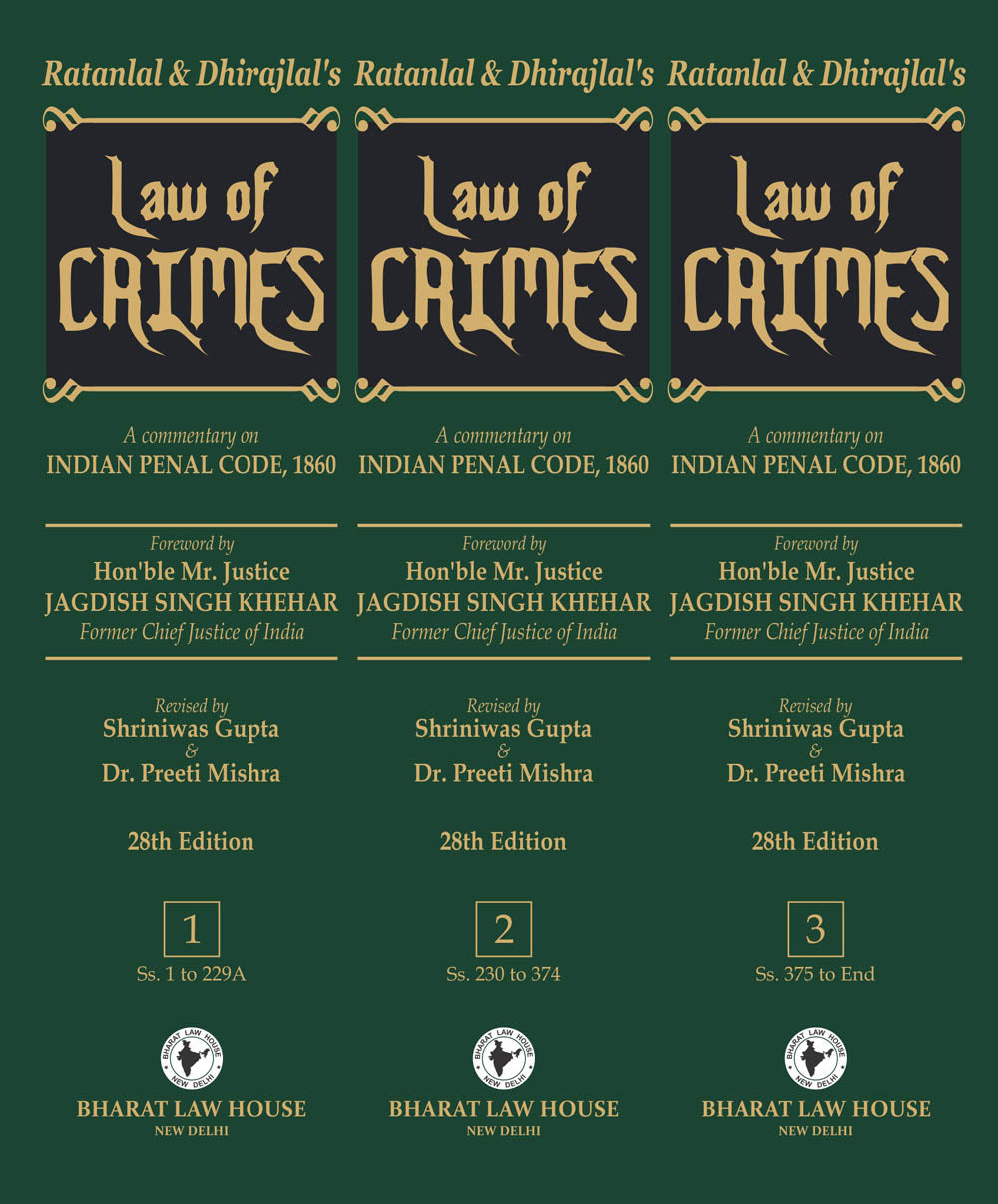 LAW OF CRIMES ( 3 VOLUMES ) 28th Edition