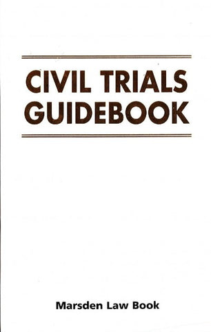 Civil Trials Guidebook