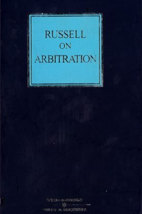 Russell On Arbitration – 22nd Edition