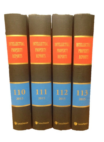 Intellectual Property Reports Vol 1- 113 Bound Volumes