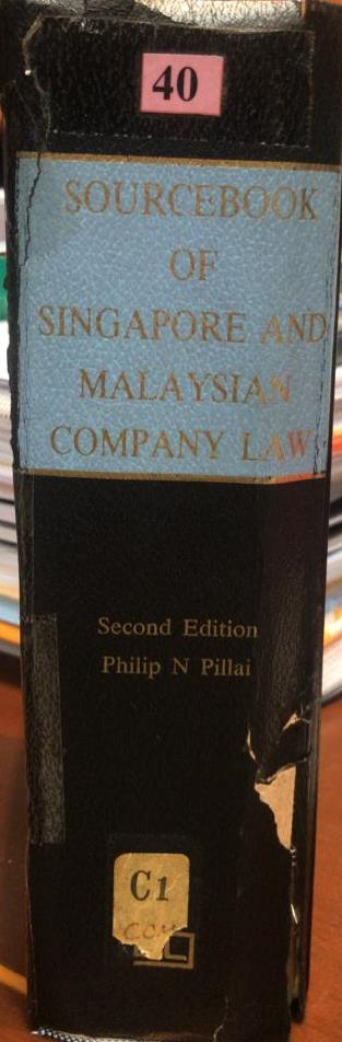 SOURCEBOOK OF SINGAPORE AND MALAYSIA COMPANY LAW (2ED)