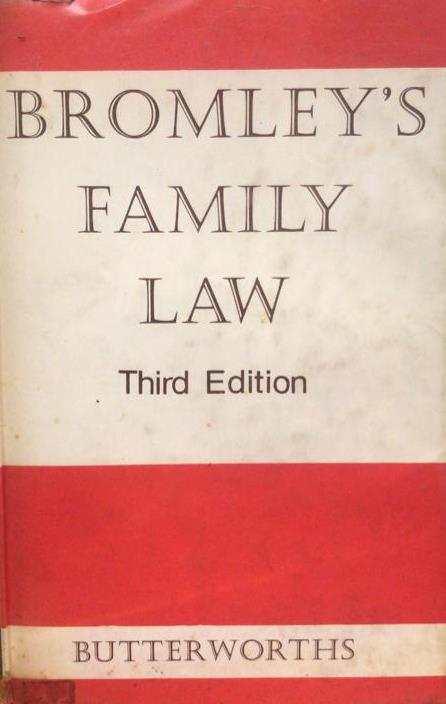 BROMLEY'S FAMILY LAW (3ED) 1966