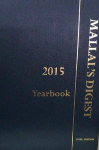 MALLAL'S DIGEST 5ED 2015 YEARBOOK
