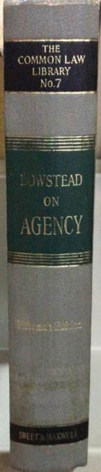 Bowstead on Agency, 15th Edition