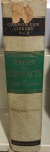CHITTY ON CONTRACTS SPECIFIC RELIEF 23ED
