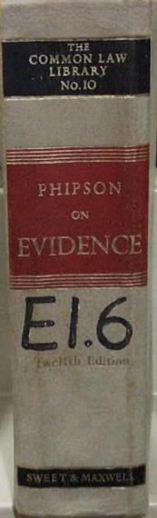 Phipson on Evidence, 12th Edition