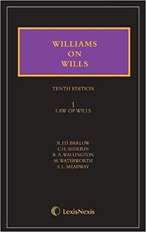 Williams on Wills (2 Vol Sets)