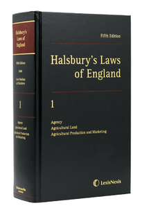 Halsbury's Laws of England 5th Edition