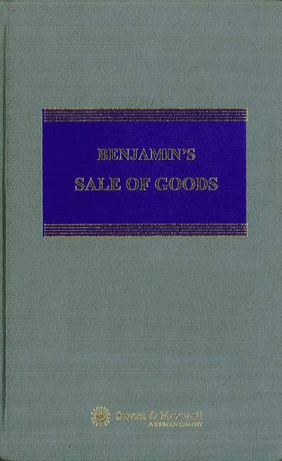 Benjamin's Sale Of Goods – 6th Edition