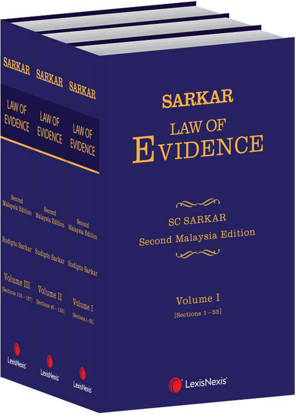 Sarkar Law of Evidence, 2nd Edition (3 Volumes)