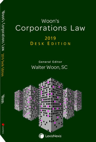 Woon's Corporations Law, 2019 Desk Edition
