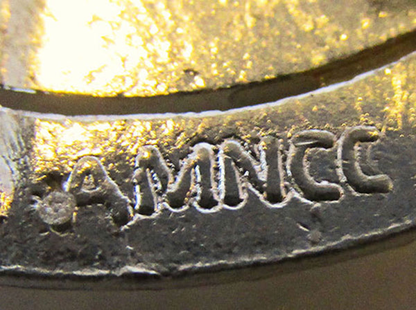 Vintage Jewelry AMNCC 1930s Art Deco Bakelite and Diamante Belt Buckle - Signature