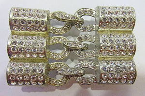 WMCA Vintage 1930s Brilliant Art Deco Rhinestone Belt Buckle