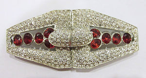 Vintage 1930s Retro Extraordinary Rare Art Deco Rhinestone Belt Buckle