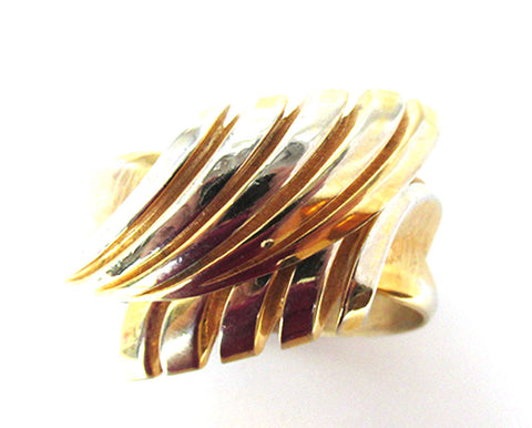 Crown Trifari Vintage Mid-Century Contemporary Style Cuff Bracelet