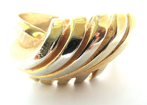 Crown Trifari Vintage Mid-Century Contemporary Style Cuff Bracelet - Front