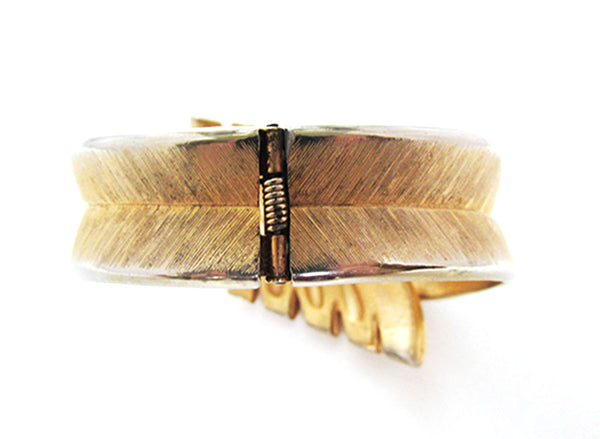 Crown Trifari Vintage Mid-Century Contemporary Style Cuff Bracelet - Back