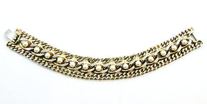 Vintage 1950s Mid-Century Exceptional Pearl Chain Link Bracelet
