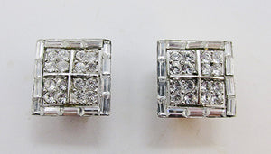 Pell Vintage Mid Century 1950s Desirable Geometric Earrings