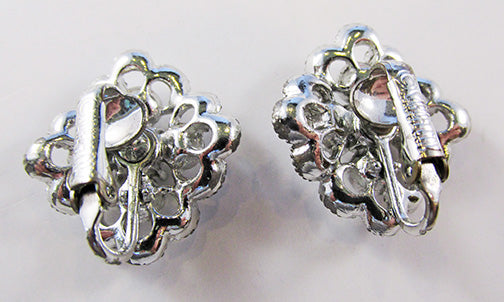 Sarah Coventry Vintage Contemporary Style Retro Floral Button Earrings