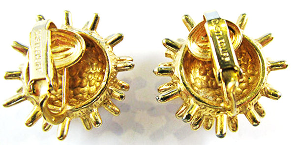 Castlecliff Vintage Jewelry Mid-Century Avant-Garde Pin and Earrings - Signature