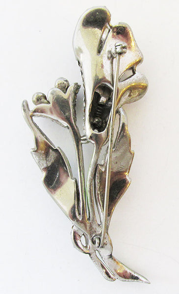 Vintage 1930s Awesome Rhinestone and Pearl Floral Bouquet Trembler Pin