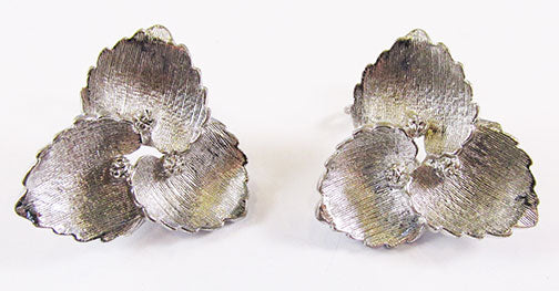 Judith McCann Vintage 1940s Unique Rare Retro Floral Wingback Earrings