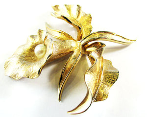 Boucher Vintage 1950s Mid-Century Exotic Orchid Pin
