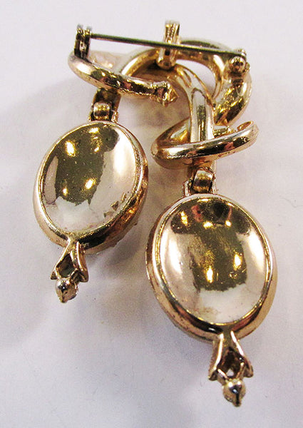Vintage Mid Century 1950s Eye-Catching Double Drop Pin/Pendant