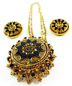 Florenza Vintage Mid Century Distinctive Pendant and Earrings Set