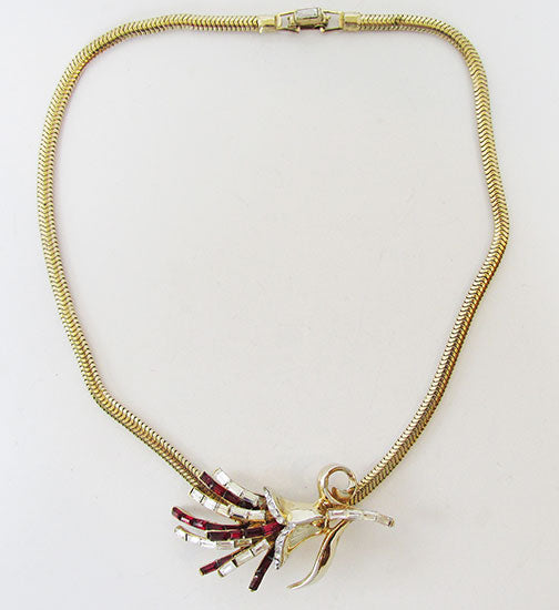 CoroCraft Pegasus Mark Vintage Exquisite 1950s Slider Necklace