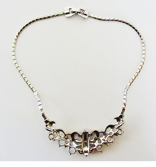 Vintage Mid Century 1950s Exquisite Gold and Silver Bib Necklace