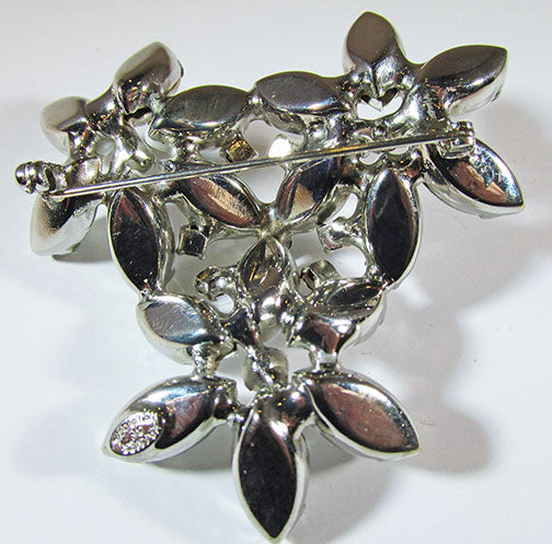 Kramer of NY Vintage 1950s Striking Rhinestone Floral Bouquet Pin