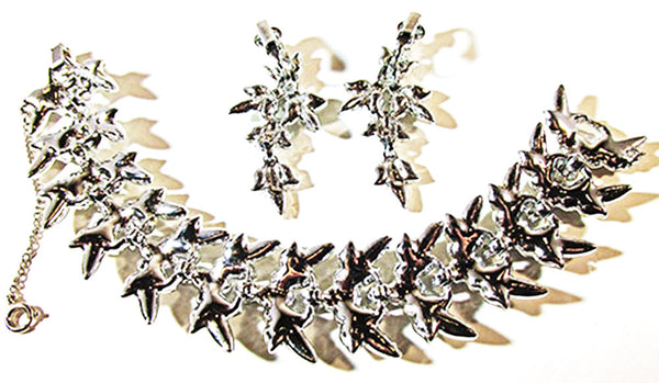 Sarah Coventry Vintage 1950s Stunning Bracelet and Earrings Set