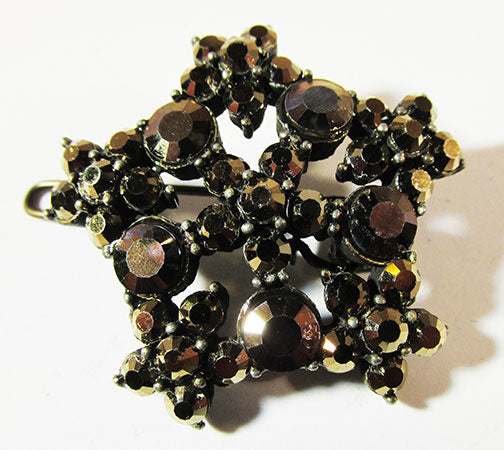 Vintage 1960s Eye-Catching Retro Floral Rhinestone Hair Clip