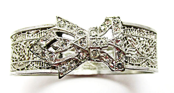Rare JJ White Antique/Vintage Retro 1910s Bow Cuff Bracelet