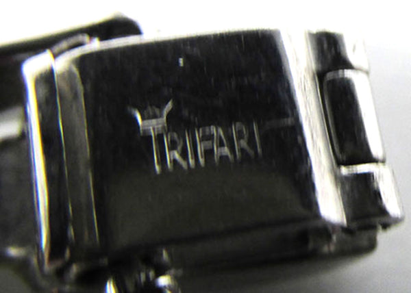Crown Trifari Vintage 1950s Book Piece Alfred Philippe Signature Bracelet