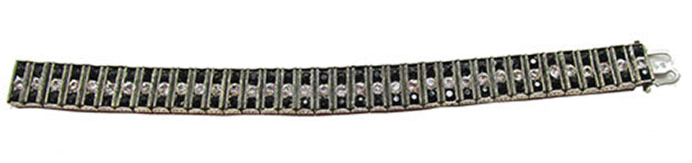 Leach and Miller Vintage Jewelry 1920s Stunning Sterling Art Deco Bracelet