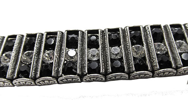 Leach and Miller Vintage Jewelry 1920s Stunning Sterling Art Deco Bracelet - Close Up