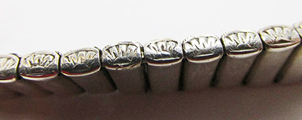 Leach and Miller Vintage Jewelry 1920s Stunning Sterling Art Deco Bracelet - Side Engraving