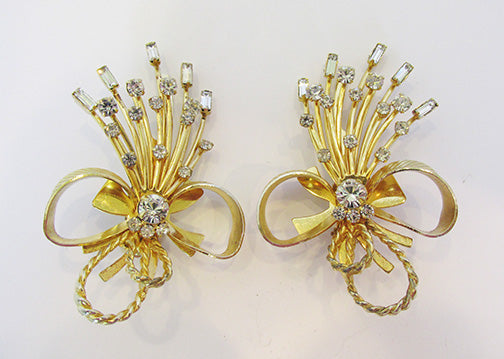 Sarah Coventry Vintage 1960s Statement Floral Bouquet Earrings