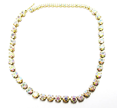 Striking Vintage Mid-Century Minimalist Iridescent Choker Necklace